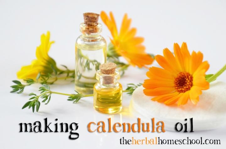Recipe for making calendula oil