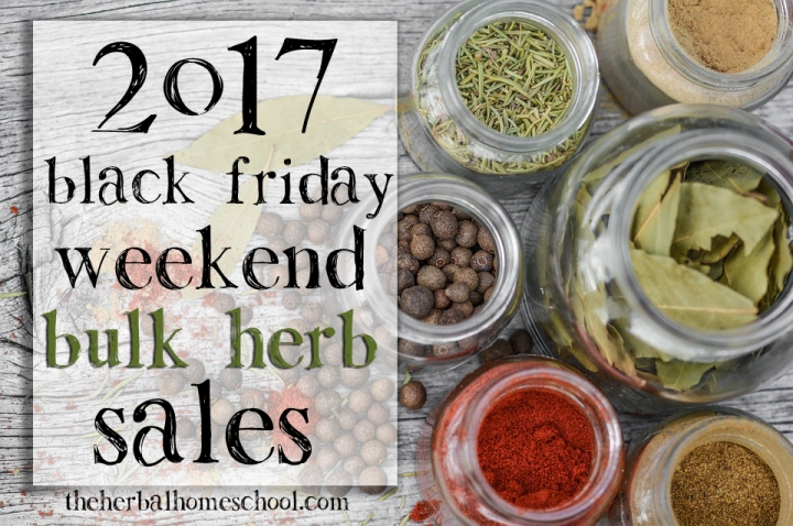 2017  Black Friday Herb Sales